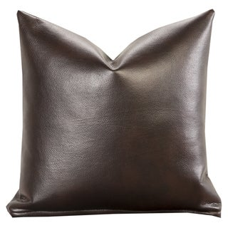 Sierra Cocoa Faux Leather Toss Pillow