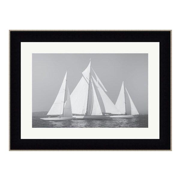 Framed Art Print 50 x 38 By Xavier Ortega Sailing Together