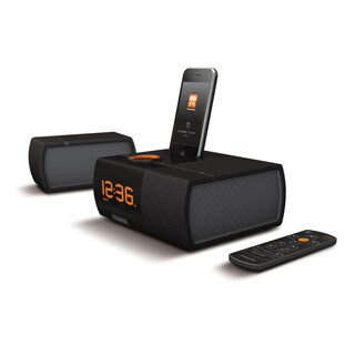 XtremeMac Luna SST Black Dual Alarm Clock with Detachable Speaker for iPod and iPhone (Refurbished)