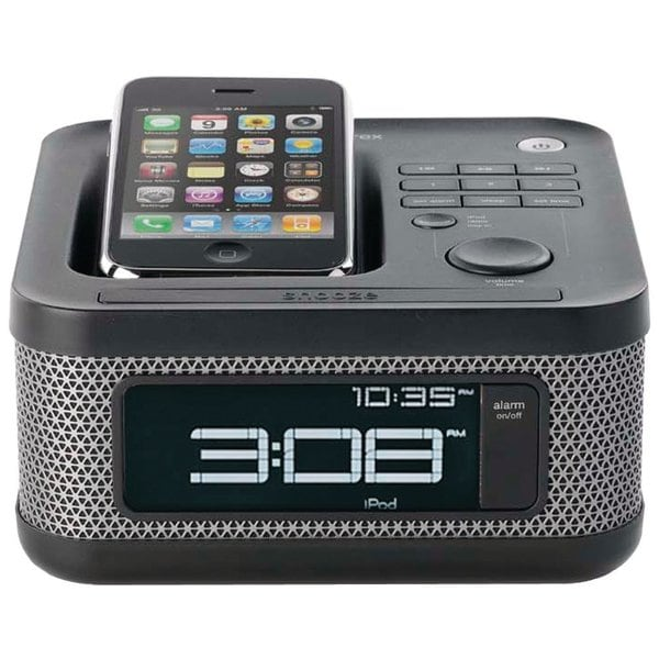Memorex MI4604P 30-pin iPod/ iPhone Alarm Clock Speaker Dock