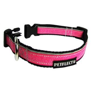 Petflect Pink Glitter Reflective Dog Collar