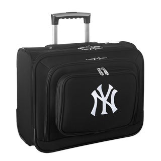 Denco Sports MLB New York Yankees Rolling Carry on 14-inch Laptop Overnighter