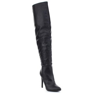 PAPRIKA SANDRA Women's Sexy High Stiletto Heel Pointed Toe Over Knee High Boots