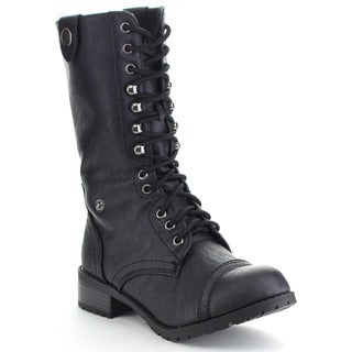 Soda Oracle-S Women's Cuff Down Lace-up Combat Boots