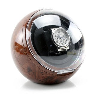 Versa Single Watch Winder Burlwood