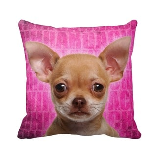 Chihuahua Fawn Grunge 16-inch Throw Pillow