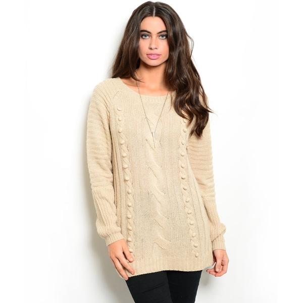 Shop the Trends Women's Long-Sleeve Knit Sweater