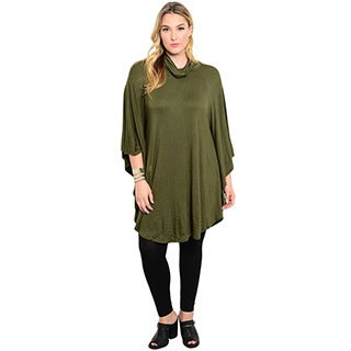 Shop the Trends Women's Plus Size 3/4-Length Sleeve Jersey Knit Top