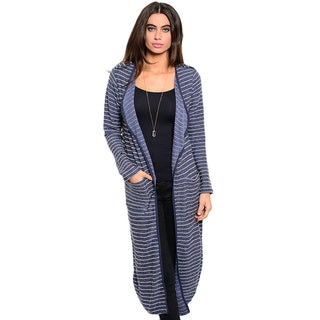 Shop the Trends Women's Long-Sleeve Knee-Length Cardigan