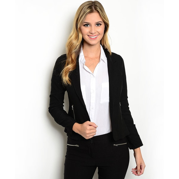 Shop the Trends Women's Long-Sleeve Open Front Blazer