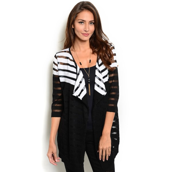 Shop the Trends Women's 3/4-Length Sleeve Lightweight Cardigan