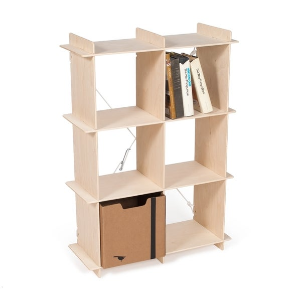 Modern Wood 6 Cube Storage Bookcase
