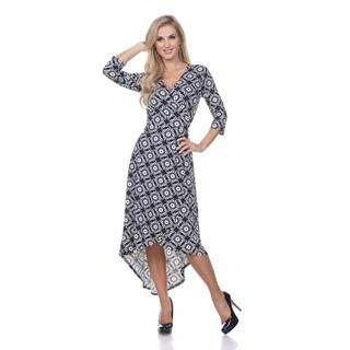 White Mark Women's 'Mariah' Arabesque Wrap Dress