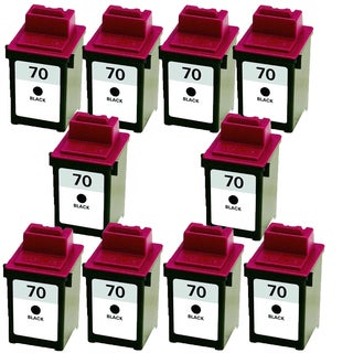 10PK 12A1970 ( #70 ) Compatible Ink Cartridge For Lexmark X125 X4212 X4250 X4270 X63 X73 X83 X85 (Pack of 10)