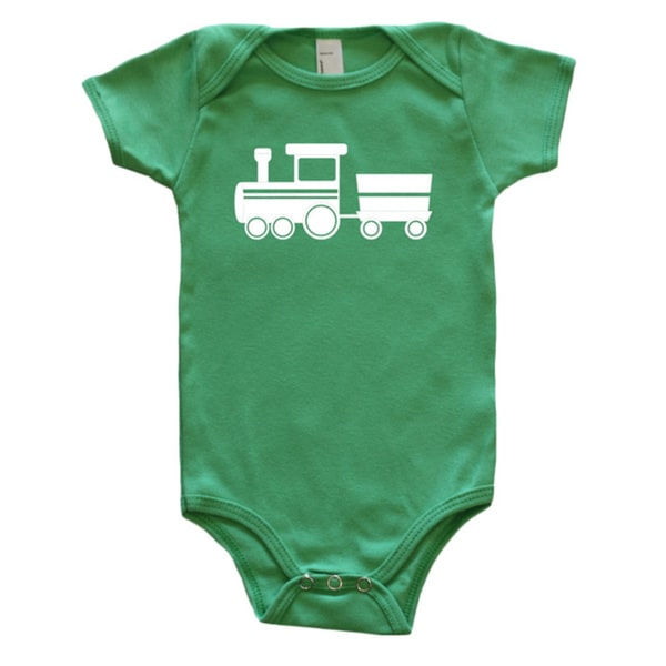 Rocket Bug Baby Bodysuit-Train