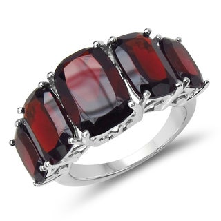Malaika .925 Sterling Silver 13.25 Carat Genuine Garnet Ring