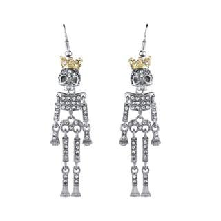 Rhinestone Skeleton Dangle Earrings