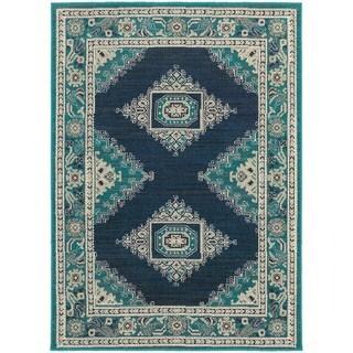 Global Influence Persian Blue/ Ivory Area Rug (7'10 x 10'10)