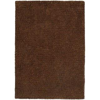 Cozy Indulgence Heathered Brown Shag Area Rug (8' x 11')