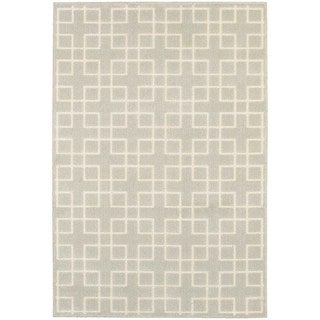 Geometric Trellis Heathered Ivory/ Ivory Area Rug (7'10 x 10'10)