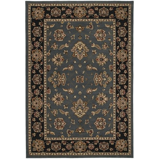 Updated Old World Persian Flair Blue/ Black Area Rug (7'10 x 11')