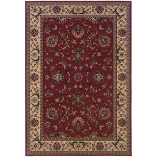 Updated Old World Persian Flair Red/ Ivory Area Rug (7'10 x 11')