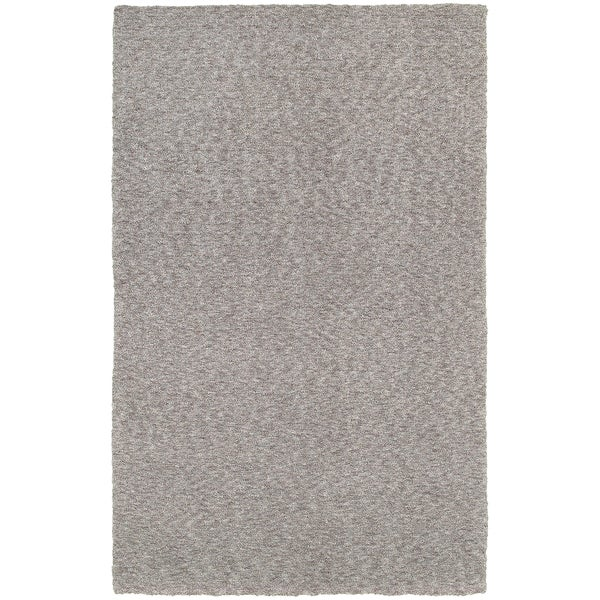 Cozy Indulgence Heathered Grey Shag Area Rug (6'6 x 9'6)