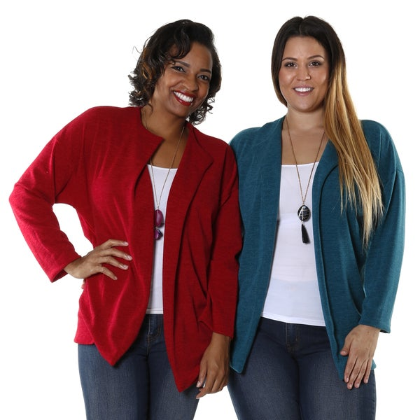 Hadari Plus (Set of 2) Casual Open Cardigan