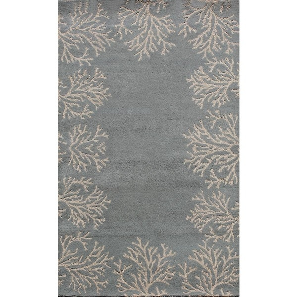 ABC Accents Coral Bordered Rug Blue Rug