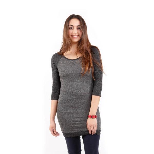 Hadari Women's 3/4 Sleeve Raglan Tunic Sweatshirt
