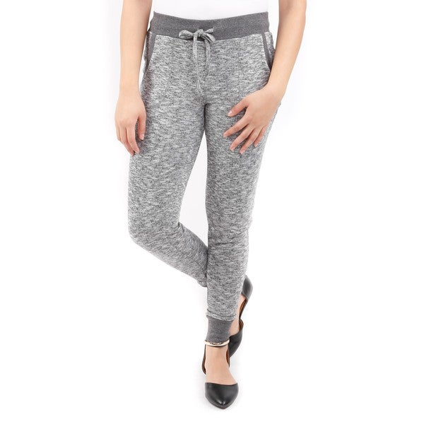 Hadari Women's Two Patch Pocket Tie-Waist Sweatpants