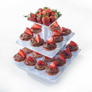 Chef Buddy 3 Tier Cupcake Dessert Stand Tray - 10 Different Options