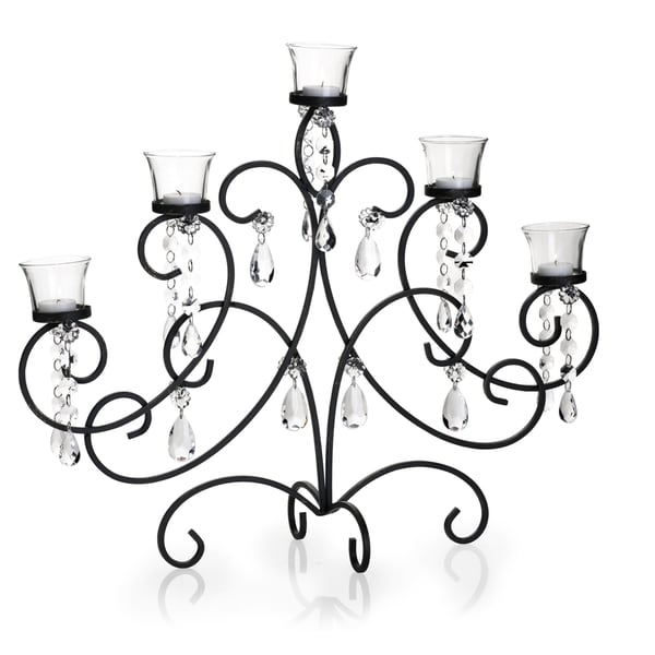 Mikasa 7-light Black and Gold Maison Centerpiece