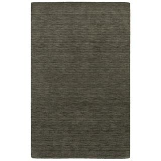 Handwoven Wool Heathered Charcoal Area Rug (5' x 8')