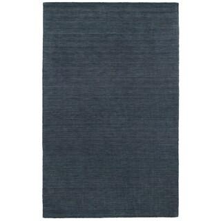 Handwoven Wool Heathered Navy Area Rug (5' x 8')