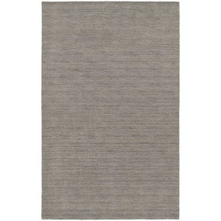 Handwoven Wool Heathered Grey Area Rug (5' x 8')