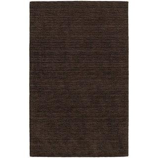 Handwoven Wool Heathered Brown Area Rug (5' x 8')