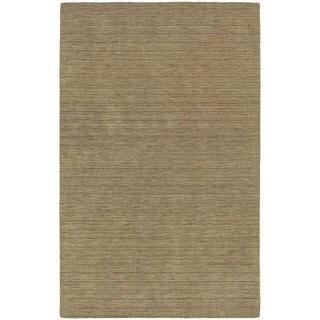 Handwoven Wool Heathered Gold Area Rug (5' x 8')