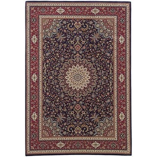 Updated Old World Persian Flair Blue/ Red Area Rug (5'3 x 7'9)