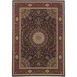 Updated Old World Persian Flair Brown/ Red Area Rug (5'3 x 7'9)