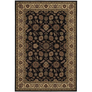 Updated Old World Persian Flair Brown/ Ivory Area Rug (5'3 x 7'9)