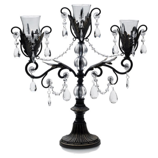 Mikasa triple arm chandelier candle holder