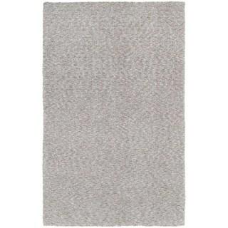 Cozy Indulgence Heathered Grey Shag Area Rug (5' x 7')