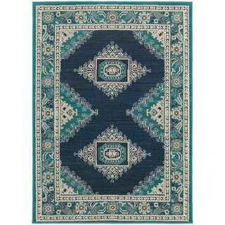 Global Influence Persian Blue/ Ivory Area Rug (5'3 x 7'6)
