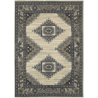 Global Influence Persian Beige/ Grey Area Rug (5'3 x 7'6)