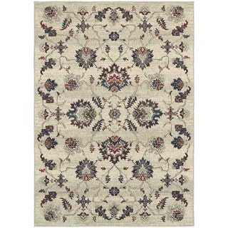 Global Influence Floral Traditional Beige/ Multi Area Rug (5'3 x 7'6)