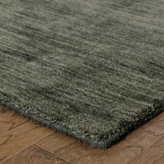 Handwoven Wool Heathered Charcoal Area Rug (6' x 9')