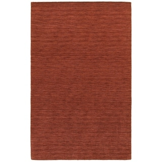 Handwoven Wool Heathered Red Area Rug (6' x 9')