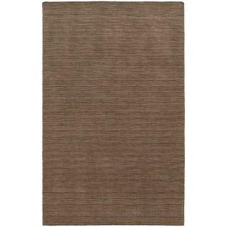 Handwoven Wool Heathered Tan Area Rug (6' x 9')