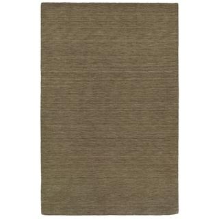 Handwoven Wool Heathered Green Area Rug (6' x 9')
